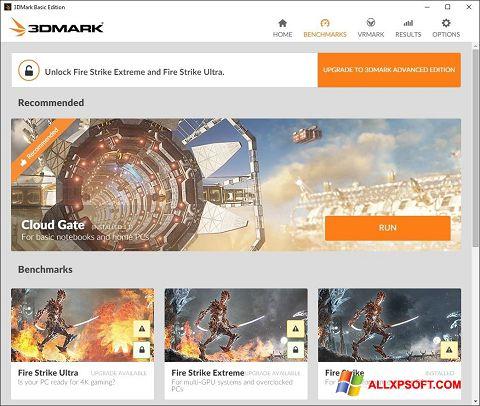 Screenshot 3DMark untuk Windows XP