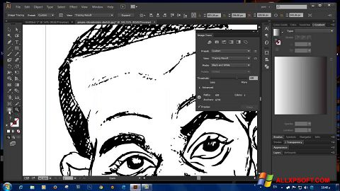 Screenshot Adobe Illustrator CC untuk Windows XP