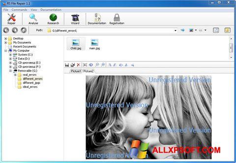 Screenshot File Repair untuk Windows XP