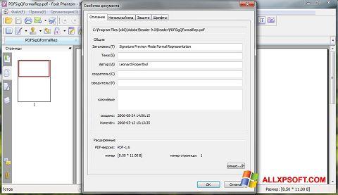 Screenshot Foxit Phantom untuk Windows XP