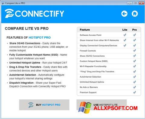 Screenshot Connectify Beta untuk Windows XP