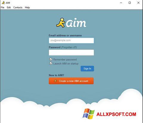 Screenshot AOL Instant Messenger untuk Windows XP