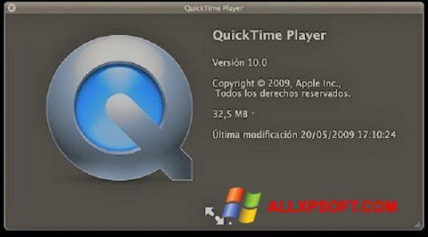 Screenshot QuickTime untuk Windows XP