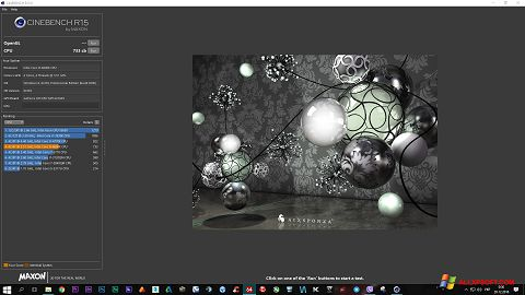 Screenshot CINEBENCH untuk Windows XP
