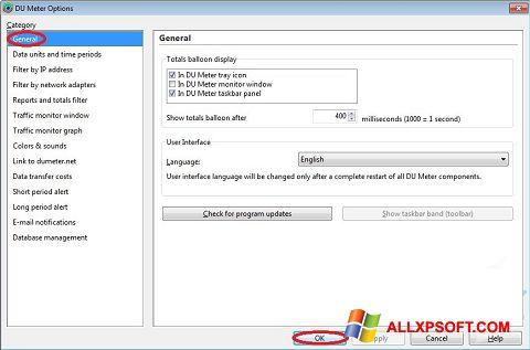 Screenshot DU Meter untuk Windows XP