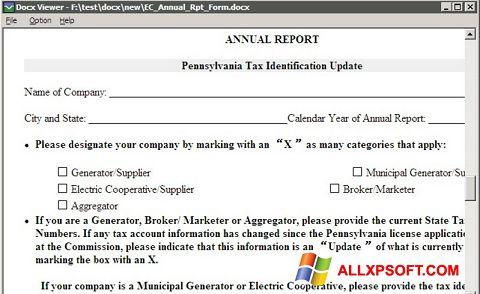 Screenshot DocX Viewer untuk Windows XP