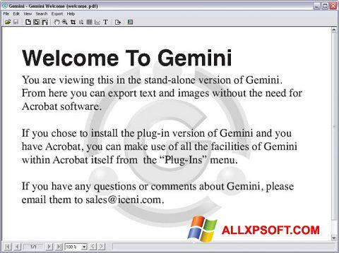 Screenshot Gemini untuk Windows XP