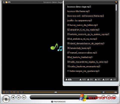 Screenshot GOM Player untuk Windows XP
