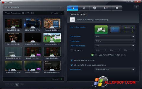 Screenshot Action! untuk Windows XP