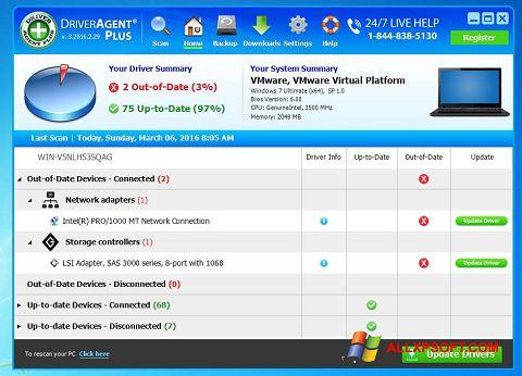 Screenshot DriverAgent untuk Windows XP