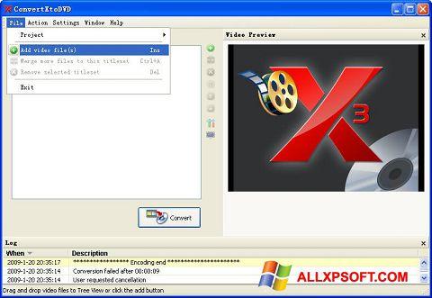 Screenshot ConvertXToDVD untuk Windows XP