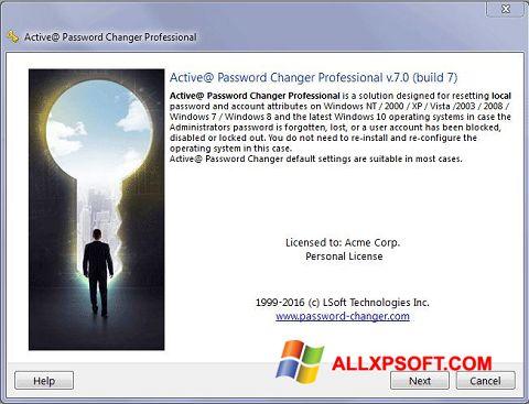 Screenshot Active Password Changer untuk Windows XP