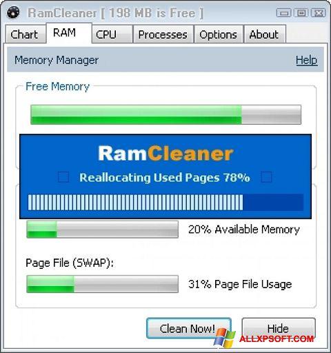 Screenshot RamCleaner untuk Windows XP