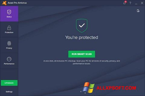 Screenshot Avast! Pro Antivirus untuk Windows XP
