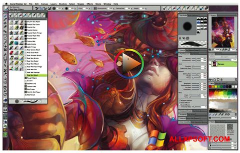 Screenshot Corel Painter untuk Windows XP