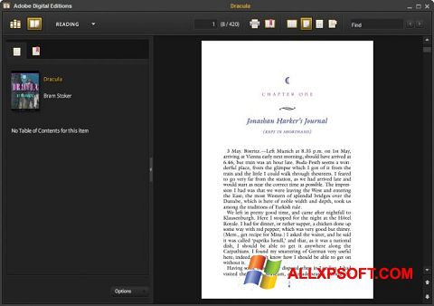 Screenshot Adobe Digital Editions untuk Windows XP