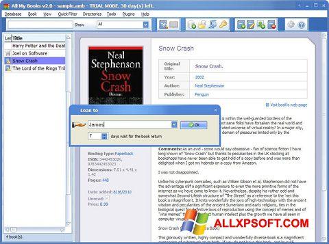 Screenshot All My Books untuk Windows XP