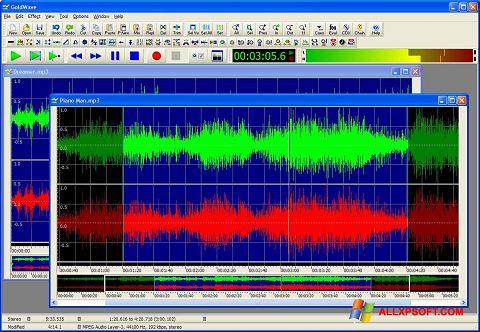 Screenshot GoldWave untuk Windows XP