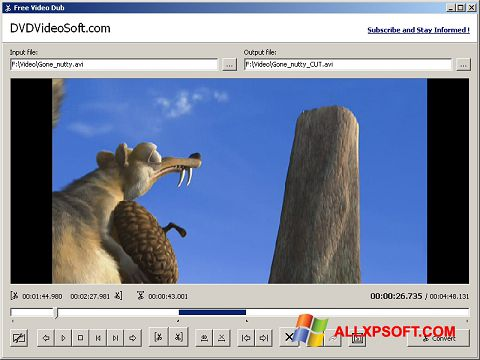 Screenshot Free Video Dub untuk Windows XP