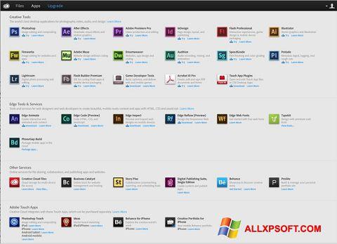 Screenshot Adobe Creative Cloud untuk Windows XP
