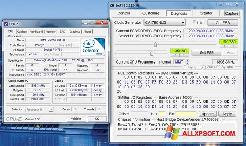 Screenshot SetFSB untuk Windows XP