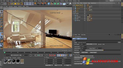 Screenshot CINEMA 4D untuk Windows XP