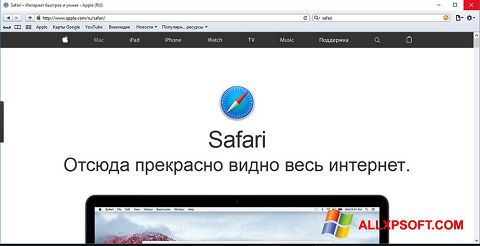 Screenshot Safari untuk Windows XP