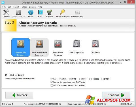 Screenshot EasyRecovery Professional untuk Windows XP