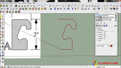 Screenshot SketchUp untuk Windows XP