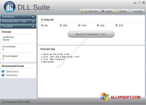 Screenshot DLL Suite untuk Windows XP