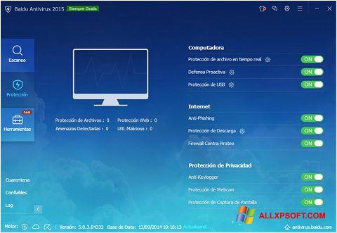 Screenshot Baidu Antivirus untuk Windows XP