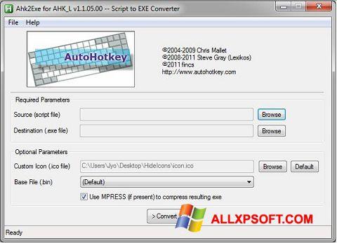 Screenshot AutoHotkey untuk Windows XP