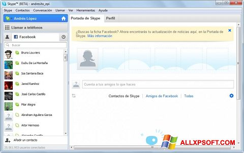 Screenshot Skype Beta untuk Windows XP