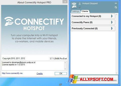 Screenshot Connectify Pro untuk Windows XP