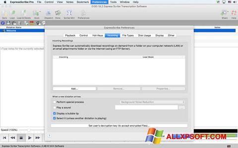 Screenshot Express Scribe untuk Windows XP