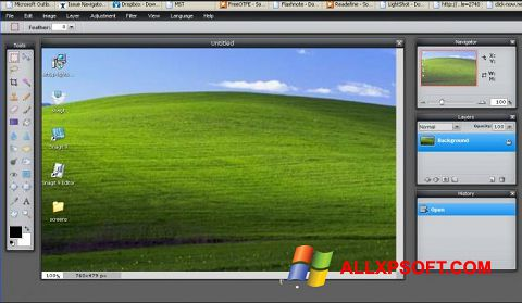 Screenshot LightShot untuk Windows XP