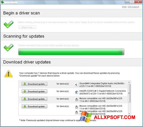 Screenshot Device Doctor untuk Windows XP