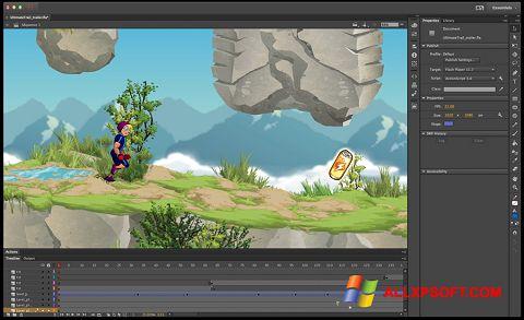 Screenshot Adobe Flash Professional untuk Windows XP