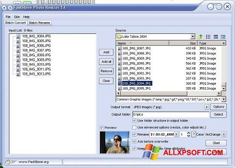 Screenshot FastStone Photo Resizer untuk Windows XP