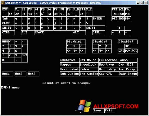 Screenshot DOSBox untuk Windows XP