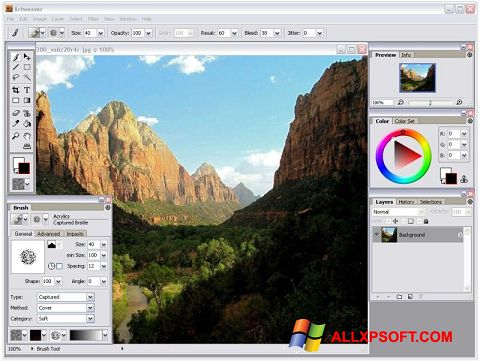 Screenshot Artweaver untuk Windows XP