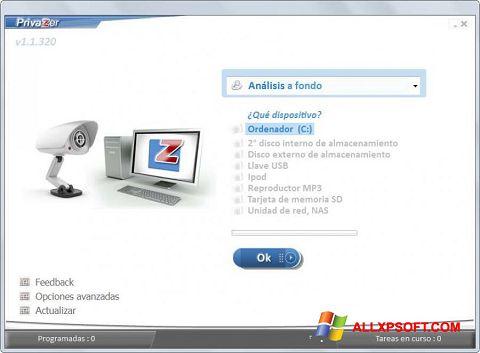 Screenshot PrivaZer untuk Windows XP