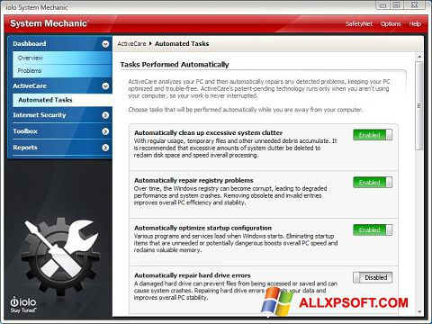 Screenshot System Mechanic untuk Windows XP