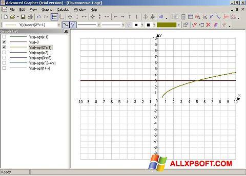 Screenshot Advanced Grapher untuk Windows XP
