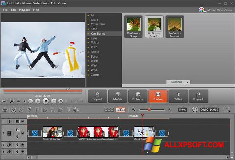 Screenshot Movavi Video Suite untuk Windows XP