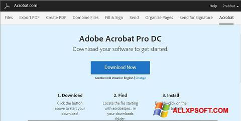 Screenshot Adobe Acrobat untuk Windows XP
