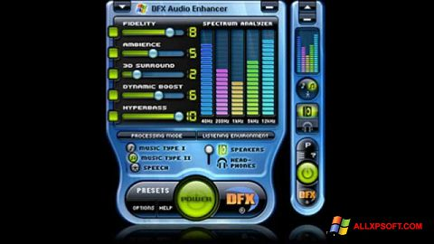 Screenshot DFX Audio Enhancer untuk Windows XP