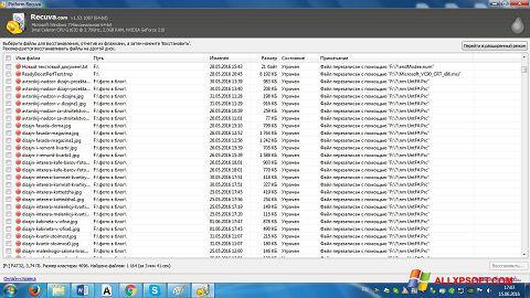 Screenshot Recuva untuk Windows XP