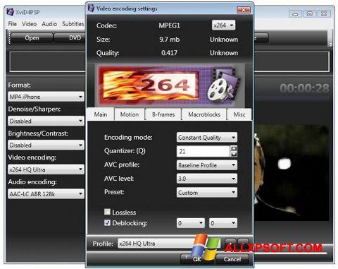 Screenshot XviD4PSP untuk Windows XP