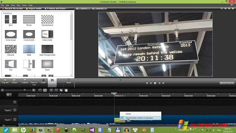 Screenshot Camtasia Studio untuk Windows XP